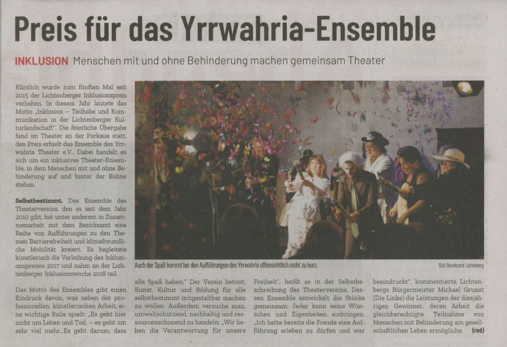 Berliner Abendblatt Dezember 2019